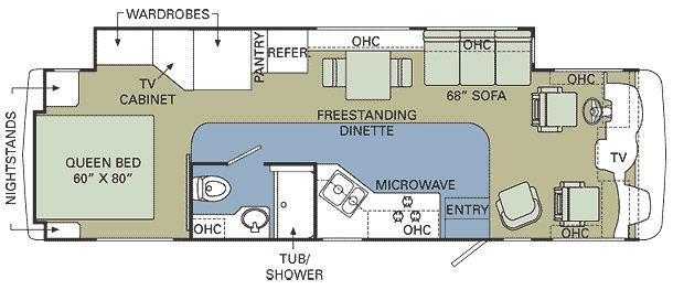Floorplan - 2008 Holiday Rambler Admiral 33 SFS