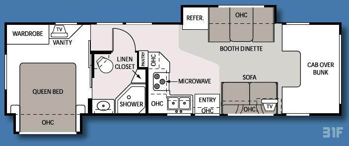 Floorplan - 2008 Four Winds RV Four Winds 31F