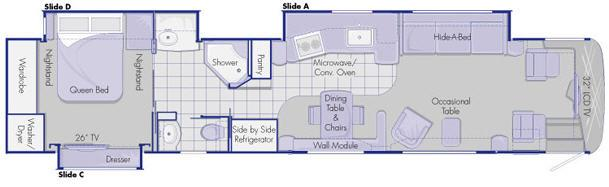 Floorplan - 2008 Country Coach Intrigue 530 45 Jubilee Opt A