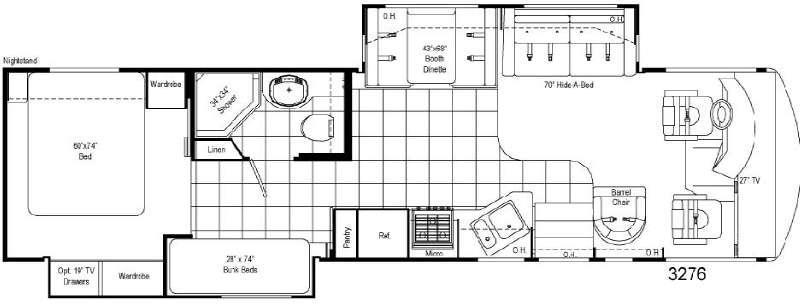 Floorplan - 2008 Damon Daybreak 3276