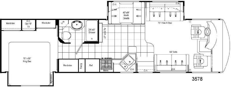 Floorplan - 2008 Damon Daybreak 3578