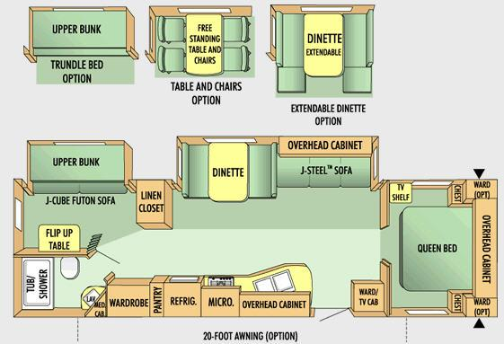 Floorplan - 2008 Jayco Jay Flight G2 31 BHDS