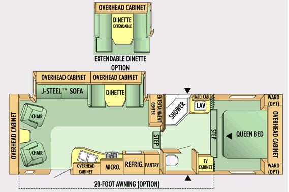 Floorplan - 2008 Jayco Eagle Super Lite 28.5 RLS