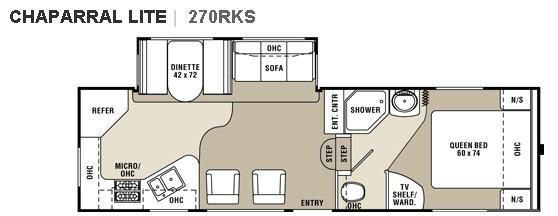 Floorplan - 2008 Coachmen RV Chaparral Lite 270RKS