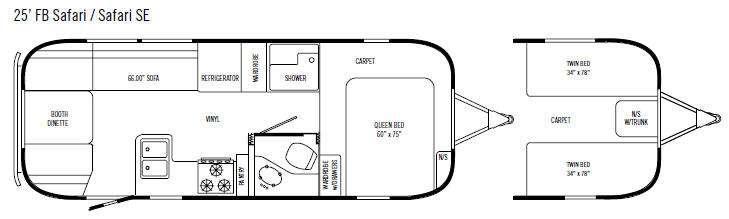 Floorplan - 2008 Airstream RV Safari SE 25' FB