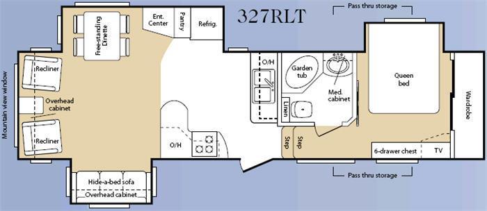 Floorplan - 2008 Keystone RV Mountaineer 327RLT