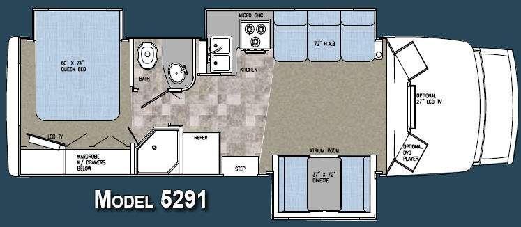 Floorplan - 2008 Gulf Stream RV BT Cruiser 5291