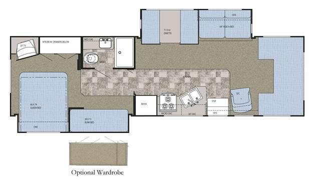 Floorplan - 2008 Gulf Stream RV Conquest Super C 6341