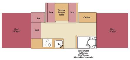 Floorplan - 2008 Fleetwood RV Highlander Saratoga