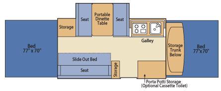 Floorplan - 2008 Fleetwood RV Americana Utah