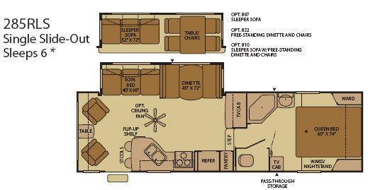 Floorplan - 2008 Fleetwood RV Terry 285RLS