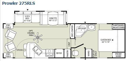 Prowler 275RLS Floorplan