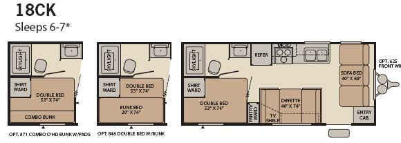 Floorplan - 2008 Fleetwood RV Pioneer Spirit 18CK
