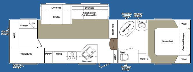 Floorplan - 2008 Keystone RV Laredo 30BH