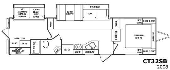 Floorplan - 2008 CrossRoads RV Cruiser CT32SB