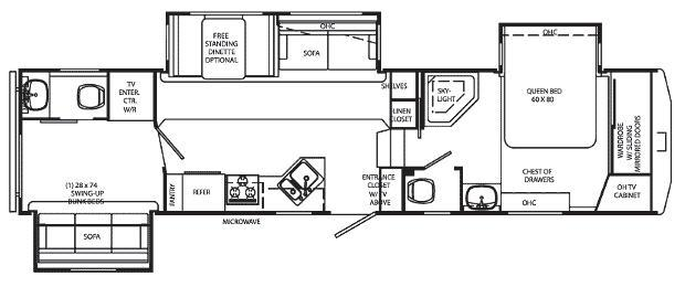Floorplan - 2009 Holiday Rambler Alumascape 34 BHT
