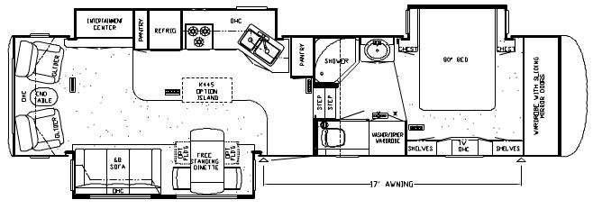 Floorplan - 2008 Newmar Cypress CPFW 35KSRL