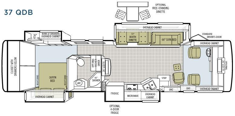 Floorplan - 2008 Tiffin Motorhomes Allegro Bay 37 QDB