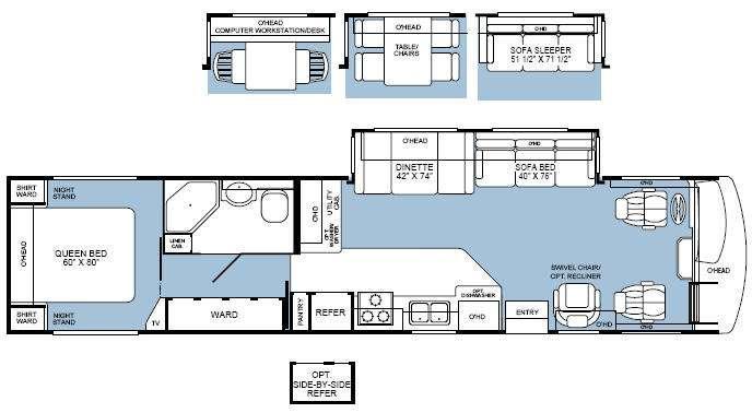 Floorplan - 2002 Fleetwood RV Bounder Diesel 39Z