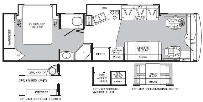 Floorplan - 2004 Fleetwood RV Discovery 35M