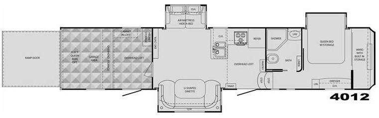 Floorplan - 2009 Heartland Cyclone 4012