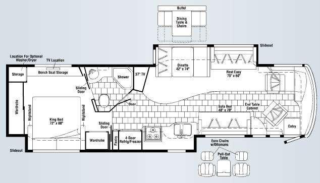 Floorplan - 2008 Winnebago Journey 39Z