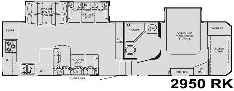 Floorplan - 2009 Heartland Big Country 2950RK