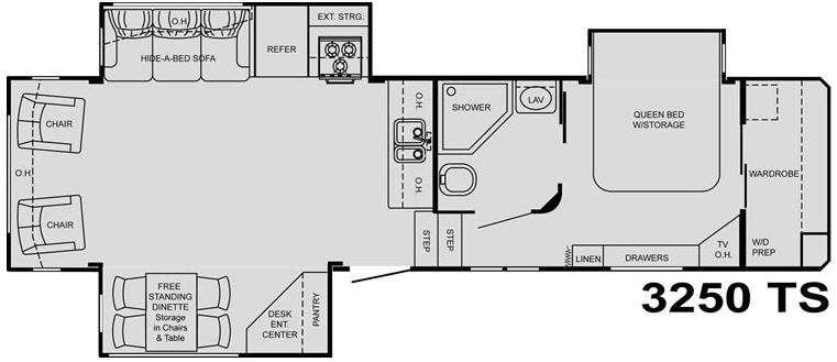 Floorplan - 2009 Heartland Big Country 3250 TS