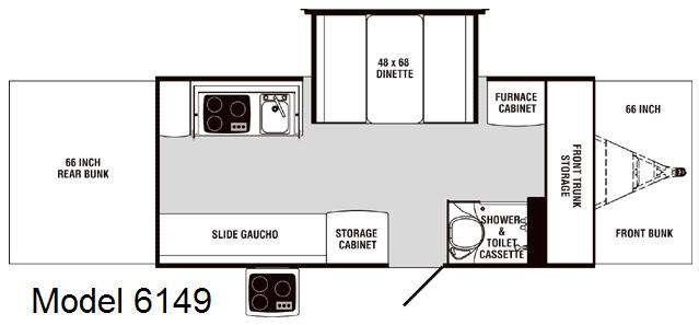 Floorplan - 2008 Palomino Mustang 6149