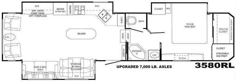 Floorplan - 2009 Heartland Bighorn 3580RL