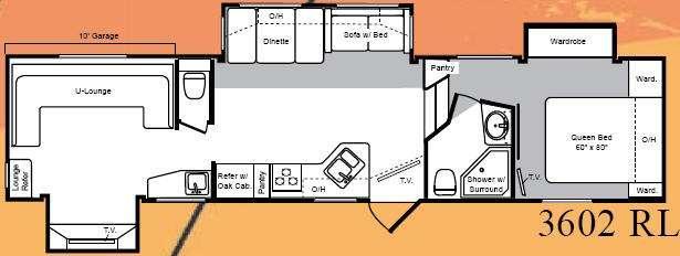 Floorplan - 2008 Keystone RV Raptor 3602RL