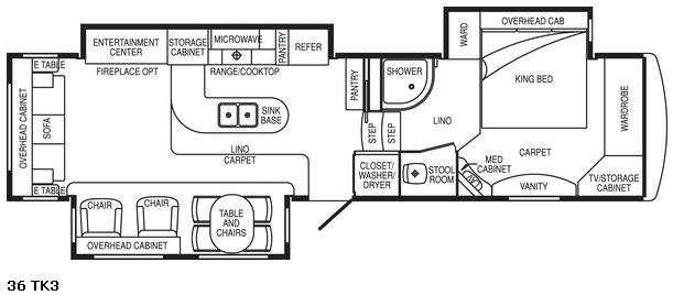 Floorplan - 2008 DRV Luxury Suites Select Suites 36 TK3