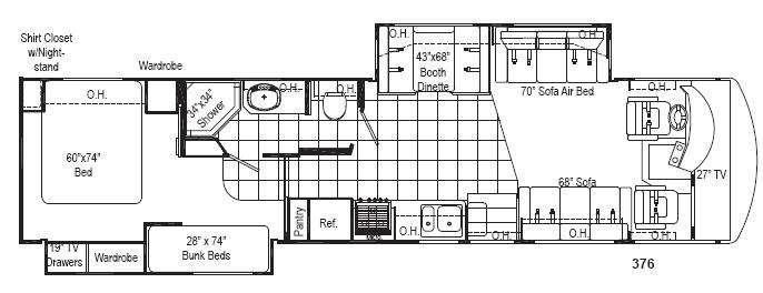 Floorplan - 2008 Damon Challenger Platinum Edition 376