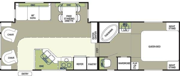 Floorplan - 2005 Forest River RV Rockwood 8283 SS