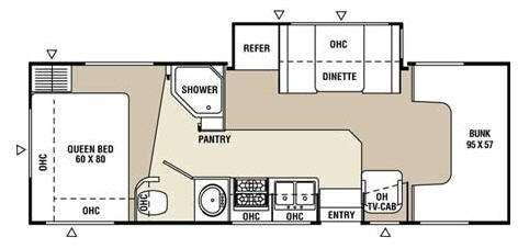 Floorplan - 2009 Coachmen RV Freelander 2600SO