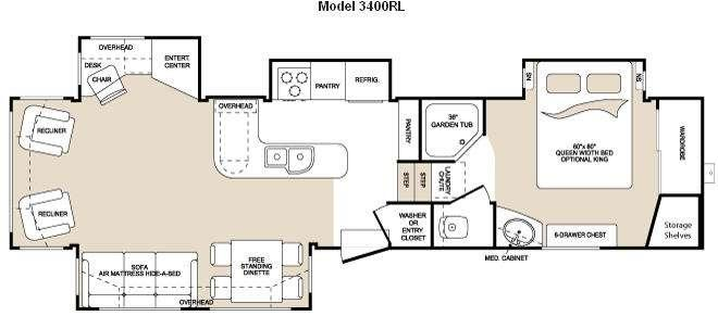Floorplan - 2009 Keystone RV Montana 3400 RL