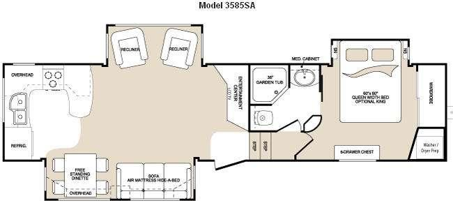Floorplan - 2009 Keystone RV Montana 3585 SA