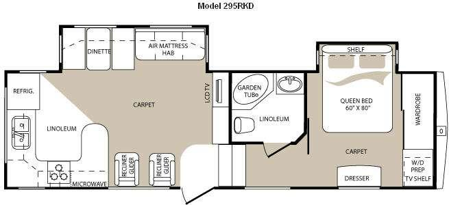 Floorplan - 2009 Keystone RV Mountaineer 295RKD