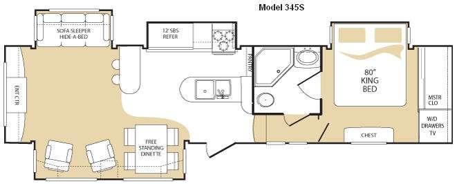 Floorplan - 2009 Keystone RV Everest 345S