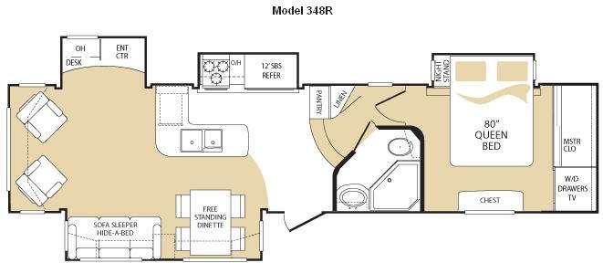 Floorplan - 2009 Keystone RV Everest 348R