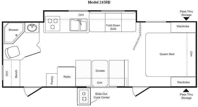 Floorplan - 2009 Keystone RV Passport 245RB