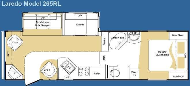 Floorplan - 2009 Keystone RV Laredo 265RL