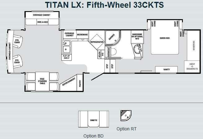 Floorplan - 2008 SunnyBrook Titan LX 33CKTS