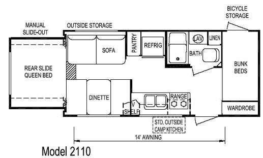 Floorplan - 2008 Skyline Malibu 2110