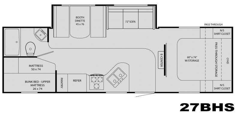 Floorplan - 2009 Heartland North Country 27BHS