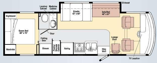 Floorplan - 2009 Winnebago Vista 30B