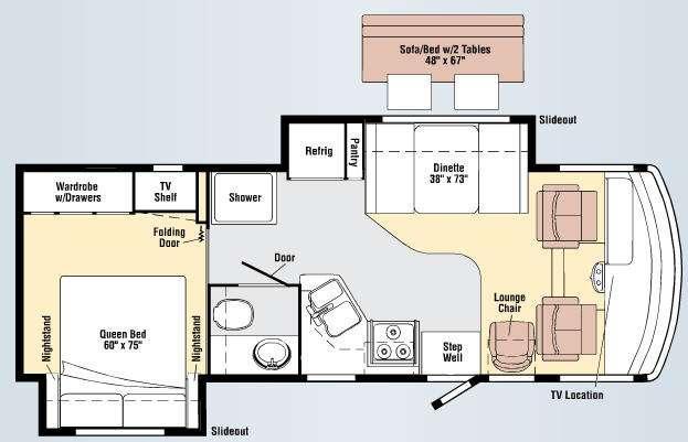 Floorplan - 2009 Winnebago Vista 26P