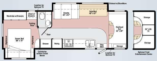 Floorplan - 2009 Itasca Spirit 31C