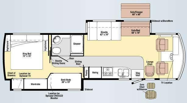 Floorplan - 2009 Winnebago Sightseer 35J