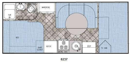 Floorplan - 2009 Gulf Stream RV Yellowstone Traditional C 6237